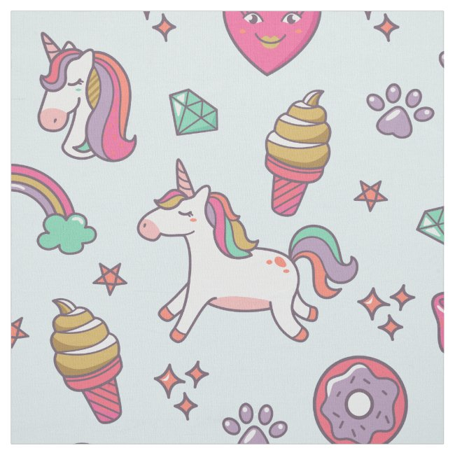 Flying Unicorns Rainbows Kawaii ID381