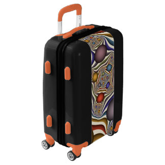 Flying Up, Colorful, Modern, Abstract Fractal Art Luggage