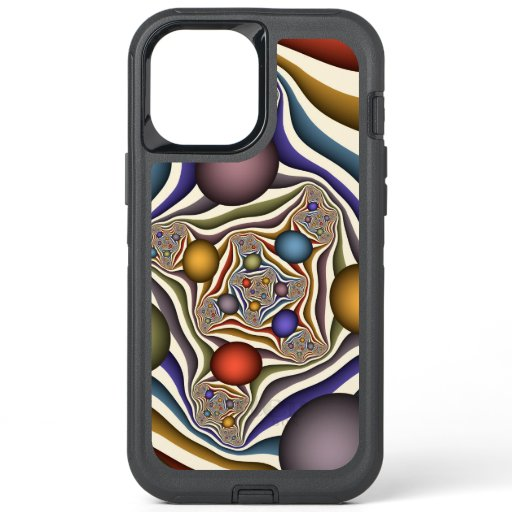 Flying Up Colorful Modern Abstract Fractal Art OtterBox Defender iPhone 12 Pro Max Case
