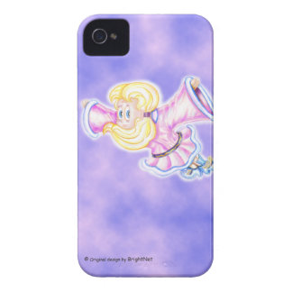 flying Upside-down pink girl Case-Mate iPhone 4 Cases