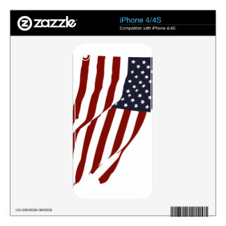 Flying US Flag iPhone 4S Skins