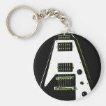 Flying V Electric Guitar Key Chains