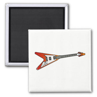 Flying V Guitar Magnet