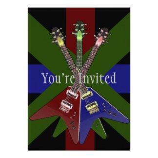 Flying V Guitar Shredder Custom Invites