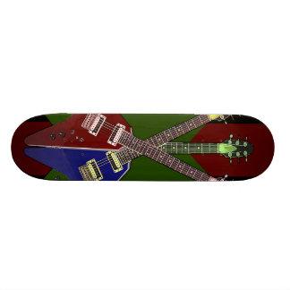 Flying V Guitar Shredder Skateboard Deck
