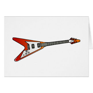 Flying V Guitar Stationery Note Card