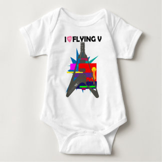 Flying V part 2.5: I LOVE GUITAR series by [ZIPANG Baby Bodysuit