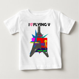 Flying V part 2.5: I LOVE GUITAR series by [ZIPANG Baby T-Shirt