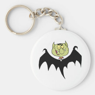 Flying Vampire Basic Round Button Keychain