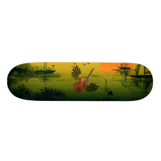 Flying Violin Skateboard Deck