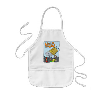 Flying Waffles from Mars! Kids' Apron