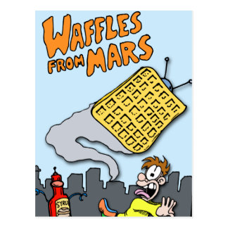 Flying Waffles from Mars! Postcard