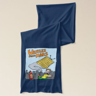 Flying Waffles - UFO from Mars - Funny Fashion Scarf