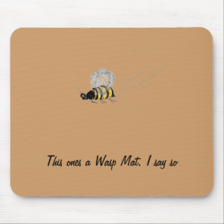 Flying Wasp Mouse Pad