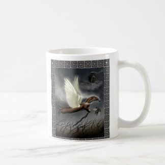 Flying Weasel with Granny Squares Mug