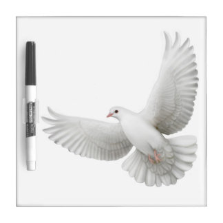 Flying White Dove Dry Erase Board