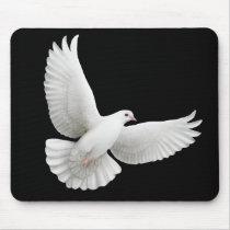 Flying White Dove Mousepad