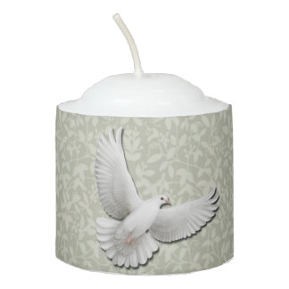 Flying White Dove Votive Candle