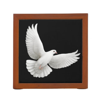 Flying White Peace Dove Desk Organizer