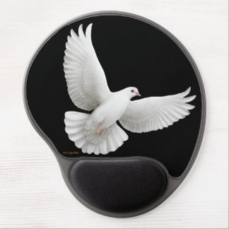 Flying White Peace Dove Gel Mousepad