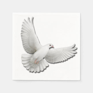 Flying White Peace Dove Napkins