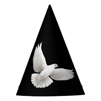 Flying White Peace Dove Party Hat