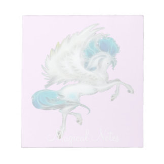 Flying White Pegasus Magical Notes