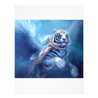 Flying White Tiger With Angel Letterhead