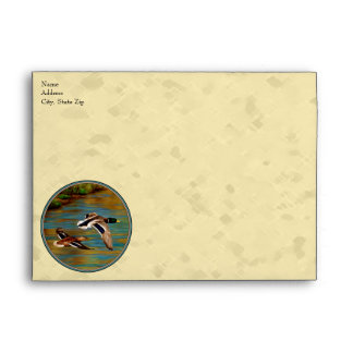 Flying Wild Ducks Yellow Envelope