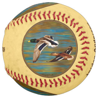 Flying Wild Ducks Yellow Softball