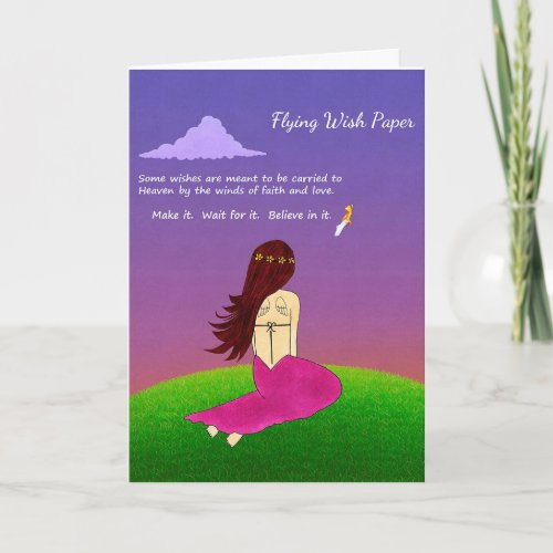 Flying Wish Paper Greeting Card