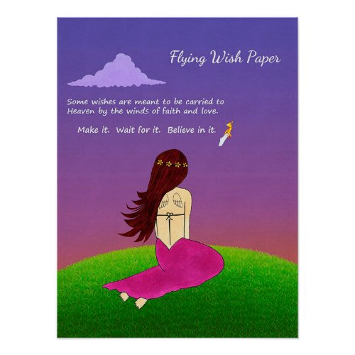 Flying Wish Paper Poster