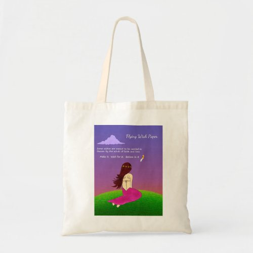 Flying Wish Paper Tote Bag
