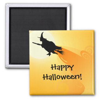 Flying Witch 2 Halloween Magnet