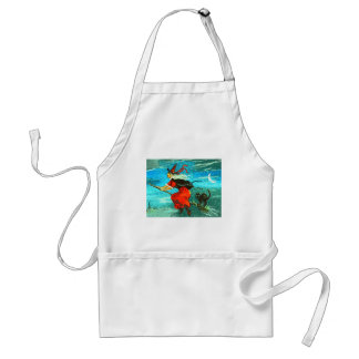 Flying Witch Adult Apron