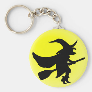 Flying Witch Basic Round Button Keychain