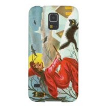 Flying Witch Black Cat Owl Bat Snow Galaxy S5 Case