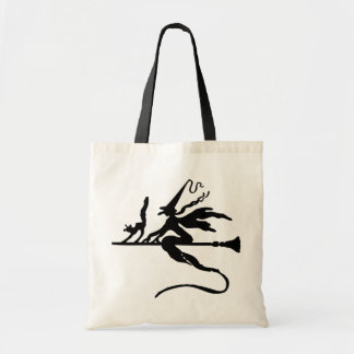 Flying Witch Budget Tote Bag