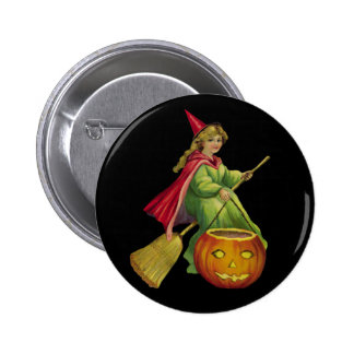 Flying Witch 2 Inch Round Button