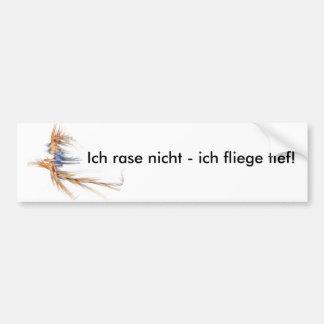 Flying Witch Fractal - autosticker white Bumper Sticker