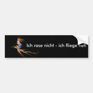 Flying Witch Fractal - black Bumper Sticker