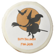 Flying Witch Halloween Cookie Sugar Cookie