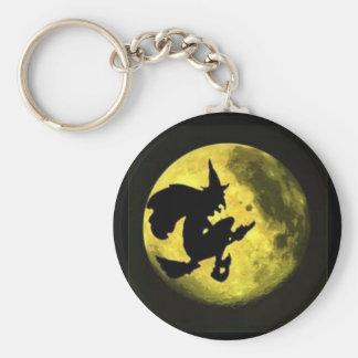 Flying Witch Halloween Keychain