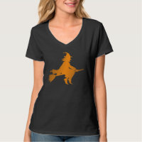 Flying Witch Halloween T-Shirt