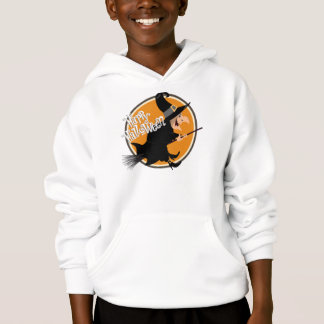 Flying Witch Happy Halloween Hoodie