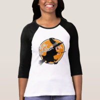 Flying Witch Happy Halloween T-Shirt