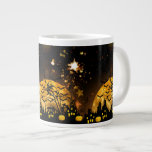Flying Witch Harvest Moon Bats Halloween Gifts Large Coffee Mug