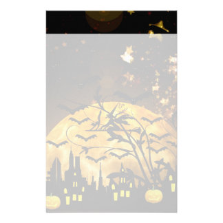 Flying Witch Harvest Moon Bats Halloween Gifts Stationery