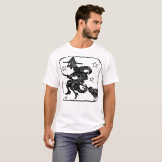 Flying Witch Illustration T-Shirt