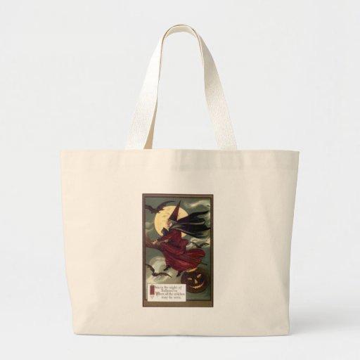 Flying Witch Jumbo Tote Bag